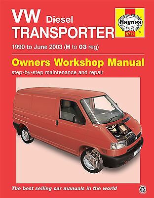 VW Transporter T4 1.9 2.4 2.5 Diesel 1990-2003 Haynes Workshop Manual 5711