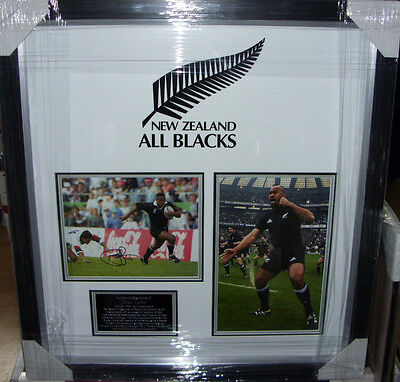 Jonah Lomu All Black Rugby Ace Signed  Montage