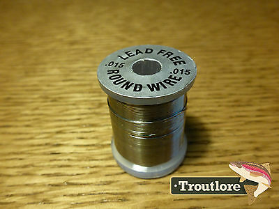 Lead Free Round Wire Size .015 - Standard Spool - New Fly Tying Threads