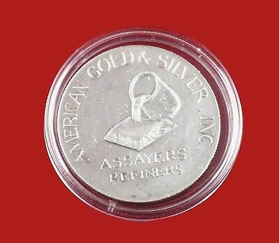 1 Troy oz .999 Fine Silver International Trade Unit AGS Round Assayers Refiners