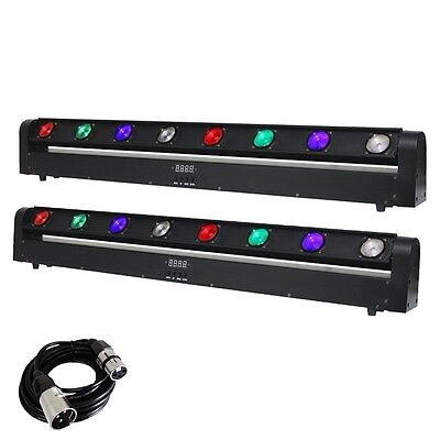 2x Equinox Swing Batten DMX LED Disco DJ Beam Lighting Effects with Free Cable