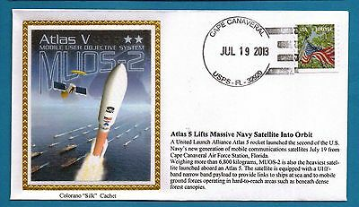 Colorano e1542 Atlas 5 Launch Mobile Objective System MUOS-2 Navy SatelliteCover