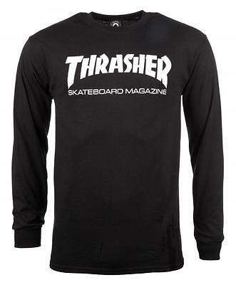 Thrasher Magazine - Longsleeve T Shirt Black - L Xl - Skate Skateboard New Rare