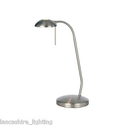 Endon 656-TL-SC Hackney Single Table Lamp Satin Chrome Plate Finish
