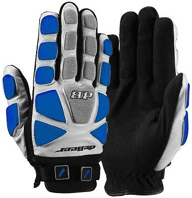 New DeBeer Womens Lacrosse LAX Tempest Gloves Padded Dual Closure Blue Size XS