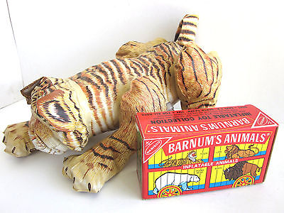 vtg 1985 Nabisco Barnum's Animals Crackers Inflatable TIGER cat Animals Frenry