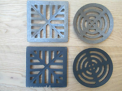 Heavy Cast Iron Gully Grid Grate Drain Cover Drainage guard Gutter Lid Cap
