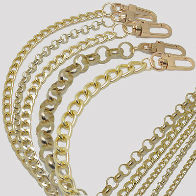 Purse Gold Chain Strap Handbags Handle Shoulder Crossbody Metal Replacement