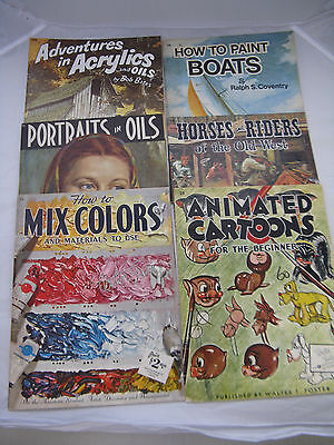 VTG Walter Foster How To Draw Lot of 11 Animals Oils Landscapes Portrait Horses