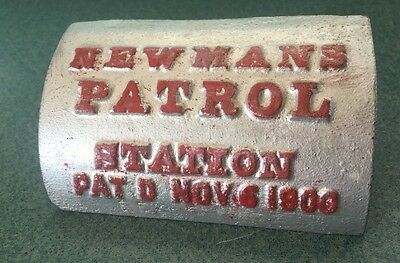 Antique Advertising Vintage Newman's Security Patrol Station Key Station Box