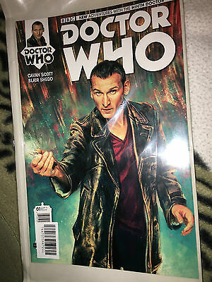 Doctor who   9th doctor   01    titan  comic  sonic screwdriver  cover