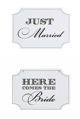 """DOUBLE SIDED SIGN """"Here Comes The Bride""""&""""Just Married"""" forWEDDING Victoria Lynn"""