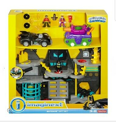 Imaginext Transforming Batcave Batman Joker DC SuperFriends Fisher Price SYD NEW