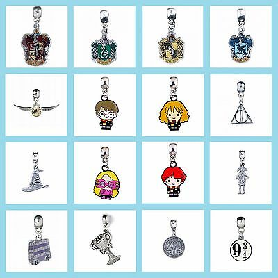 New Official Harry Potter Jewellery Silver Plated Slider Charm Bead Pendant
