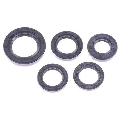 HIGA 5pcs Scooter Oil Seal Set GY6 50cc 139QMB Chinese Scooter Part Crankshaft