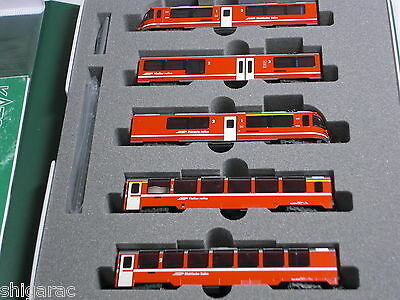 Kato n gauge 10-1318 Rhätische Bahn Bernina Express  5 cars Basic set / Japanese