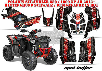 Amr Racing Dekor Graphic Kit Atv Polaris Scrambler/trailblazer Mad Hatter B