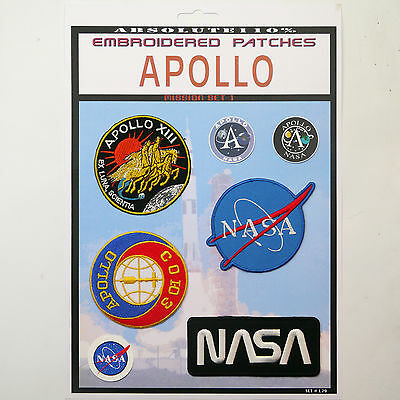 NASA APOLLO 13, Soyuz Mission Crew Patch Set - Iron-On Patch Mega Set #086