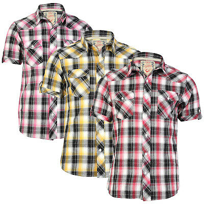 Tokyo Laundry Mens Maryland Check Shirt 2 In 1 Collared or Funnel Necked Top