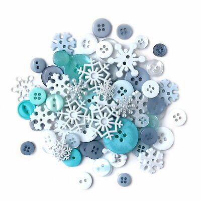 Buttons Galore Value Pack Assorted Snowflakes Embellishments VP314 - Dress it Up