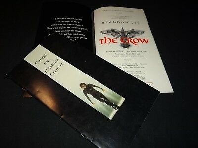 THE CROW ! brandon lee dossier presse scenario cinema fantastique comics bd