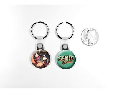 Gravity Falls Disney TV Show Dipper Mabel Pines Set of 2 Key Chains