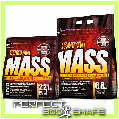 Mutant Mass 2.27Kg 6.8Kg Weight Gainer Muscle Mass Gain Whey Protein Carbs Blend