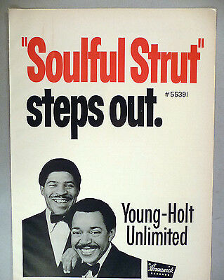 """Young-Holt Unlimited """"Soulful Strut"""" PRINT AD - 1968"""