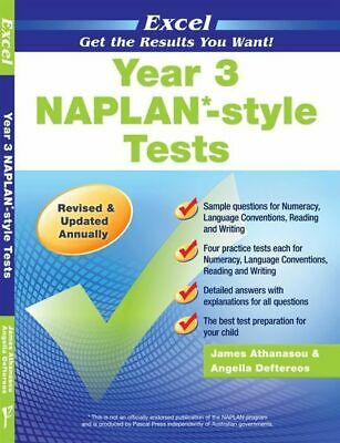 Excel NAPLAN-style Tests Year 3 NEW 9781741251722