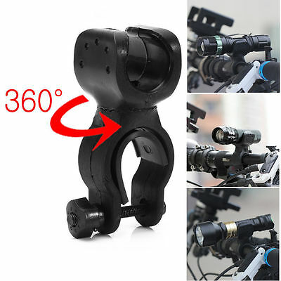 360 Swivel Cycling Bicycle Bike LED Front Head Light Lamp Mount Holder Clip