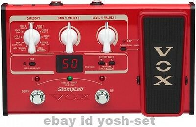 VOX StompLab SL2B Modeling Guitar Multi Effects Pedal From Japan