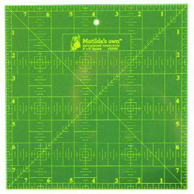 8 inch Fluorescent Square Ruler for patchwork / quilting