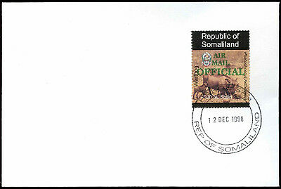 Somaliland 1998 Warthog, Air Mail Official Green Overprint, Cover #C33726
