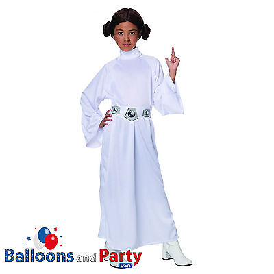 Child's Deluxe Star Wars Princess Leia Fancy Dress Party Halloween Costume