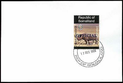 Somaliland 1998 Rhinocerus Official Blue Overprint Cover #C33739