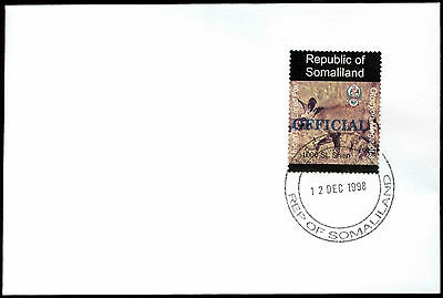 Somaliland 1998 Bat-Eared Fox Official Blue Overprint Cover #C33824