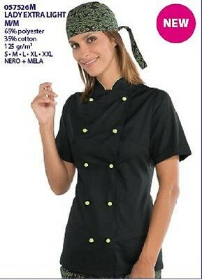 Giacca Cuoca Chef Isacco Lady Extra Light M m Made In Italy Jacket Leggera  Donna 1890c229110a