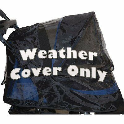 Pet Gear Weather Cover for No-Zip Jogger AT3 and NV Pet Stroller Black NEW