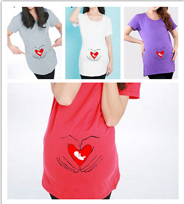 Sheltered Care Baby Maternity T-Shirt For Pregnant Women Embryo Pattern Clothes