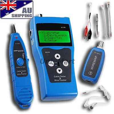 AU Network Ethernet LAN Phone Tester wire Tracker USB coaxial Cable 5E 6E RJ45