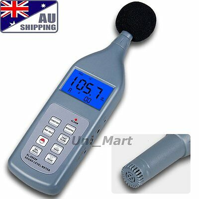 AU Sound Pressure Level Meter 30~130 dB Decibel Memory 30 Groups Lp Leq Lmax LN