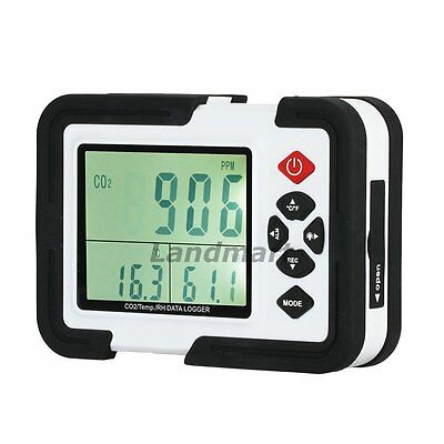 Risepro 9999ppm Carbon Dioxide CO2 DataLogger Monitor Air Temperature Humidity