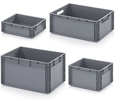 Euro Containers - Stacking Plastic Crates - Heavy Duty Storage Boxes - NEW