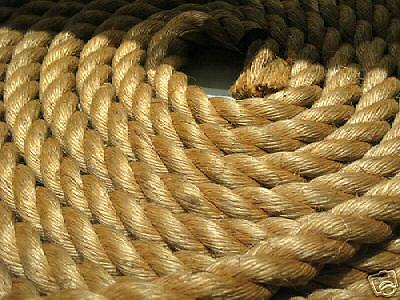 """2"""" X 50' 3-Strand  Manila Rope In A Pull Coil"""