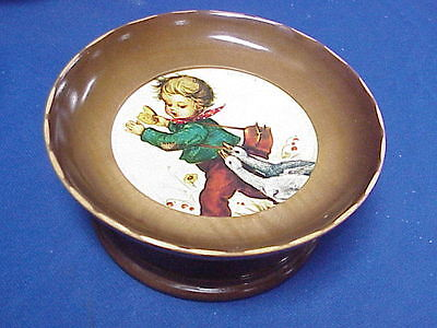 Vintage Cuendet Hummel Style Boy w/Geese Music Box Swiss Musical Movement