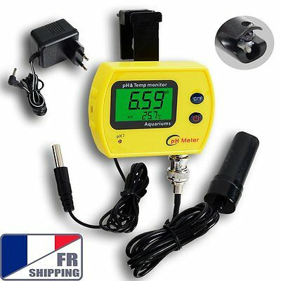 FR PH Monitor Replaceable Probe Digital Temperature Meter Contrôle Continu