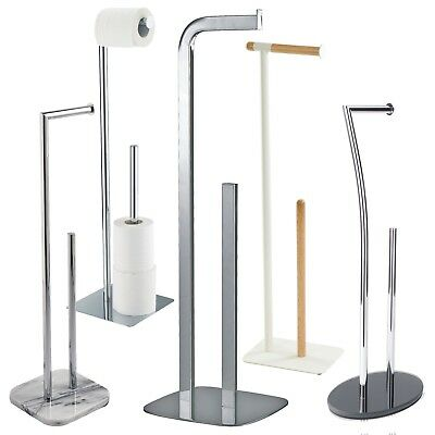 Free Standing Toilet Roll & Spare Paper Holders / Toilet Butlers by Showerdrape
