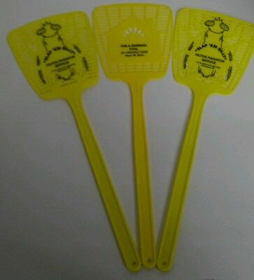 Lot of 3 Yellow Fly Swatters Insects Flies Pest Control Yard Easy Use NEW