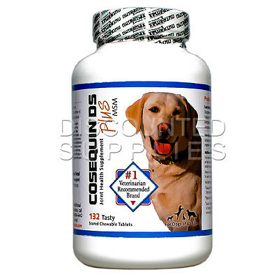 Nutramax COSEQUIN DS PLUS With MSM  Double-Strength For Dogs 132 Tablets Count