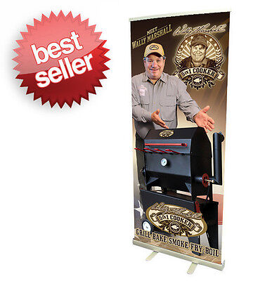 "Same Day Shipping 33""Retractable Roll Up Banner Stand + Free Print before 3 PM"